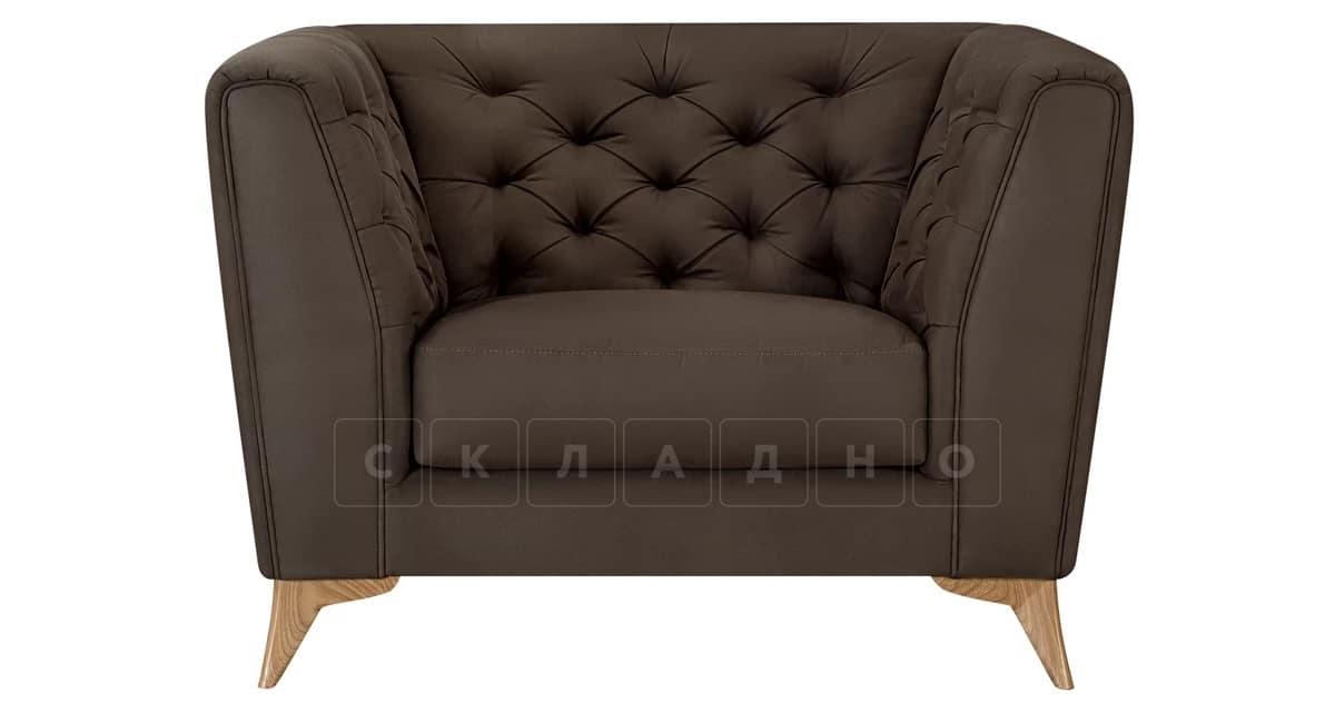 Кресло Честер на ножках коричневый фото 2 | интернет-магазин Складно
