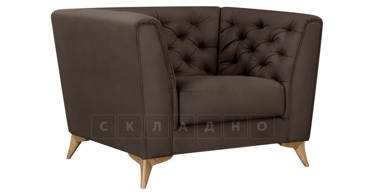 Кресло Честер на ножках коричневый фото 1 | интернет-магазин Складно