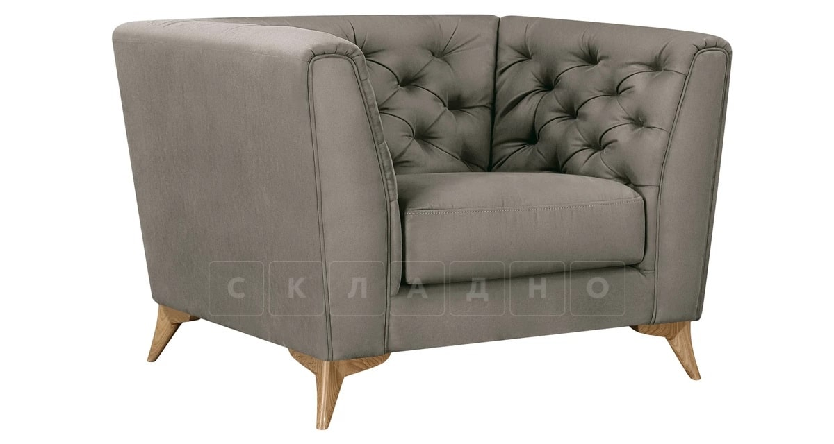 Кресло Честер на ножках серый фото 1 | интернет-магазин Складно