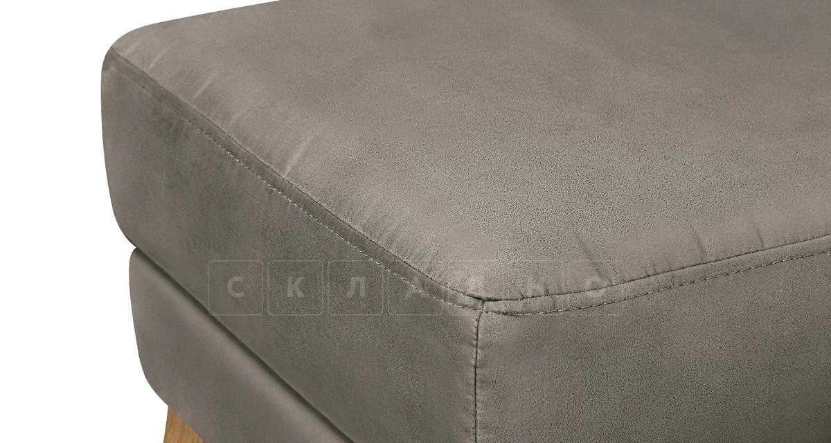 Пуф Честер на ножках серый фото 4 | интернет-магазин Складно