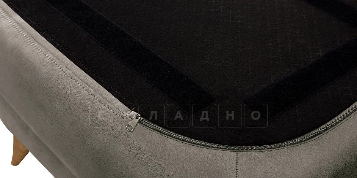 Пуф Честер на ножках серый фото 6 | интернет-магазин Складно