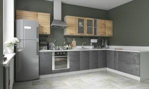 Кухня угловая Шале 380х200 см фото | интернет-магазин Складно