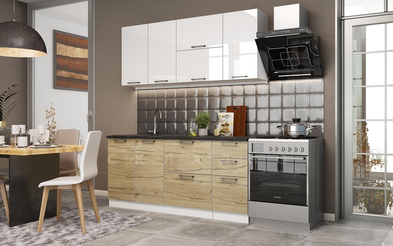 Кухонный гарнитур Даллас 1,8 м фото 1 | интернет-магазин Складно