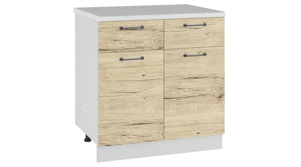 Кухонный шкаф напольный Даллас ШН1/1Я80 с 2 ящиками и 2 створками фото 1 | интернет-магазин Складно