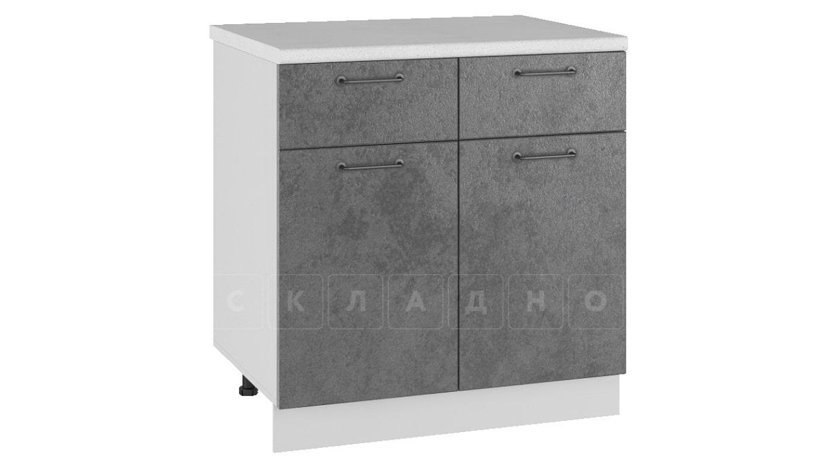Кухонный шкаф напольный Шале ШН1/1Я80 с 2 ящиками и 2 створками фото 2 | интернет-магазин Складно