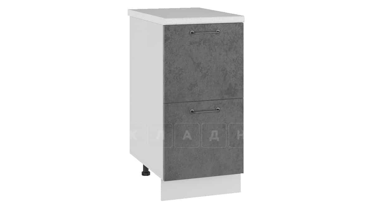 Кухонный шкаф напольный Шале ШН2Я40 с 2 ящиками фото 2   интернет-магазин Складно