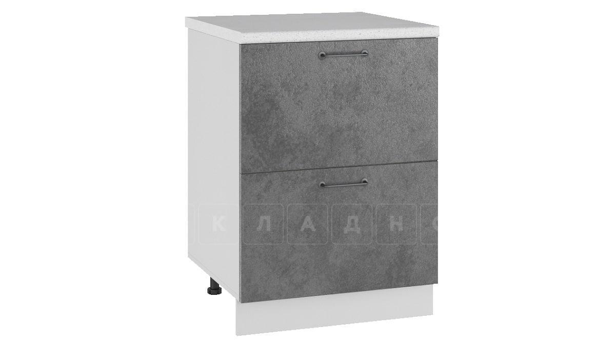 Кухонный шкаф напольный Шале ШН2Я60 с 2 ящиками фото 2 | интернет-магазин Складно