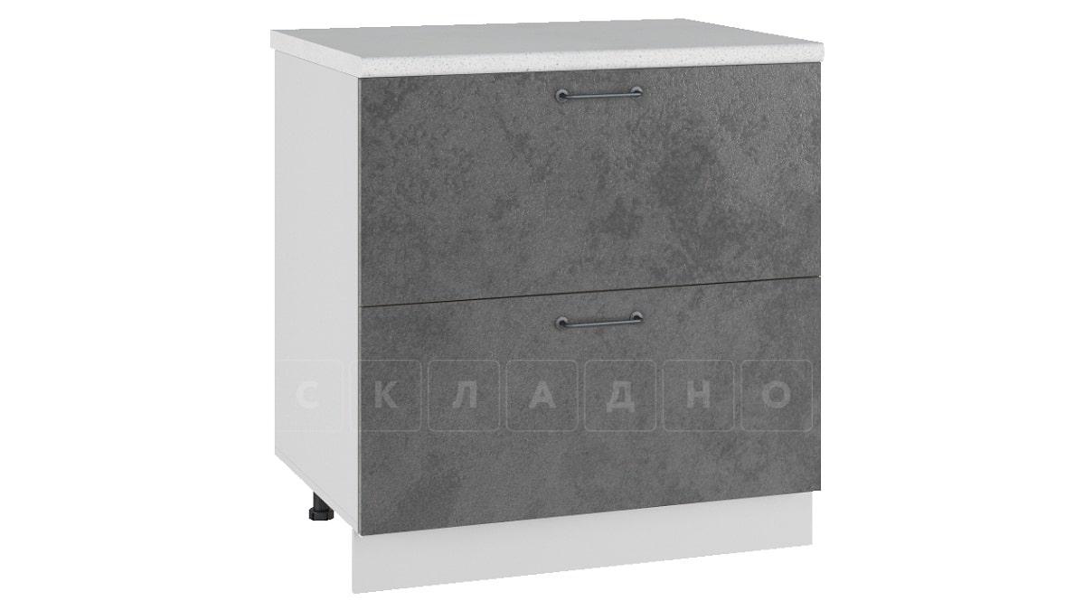 Кухонный шкаф напольный Шале ШН2Я80 с 2 ящиками фото 2 | интернет-магазин Складно