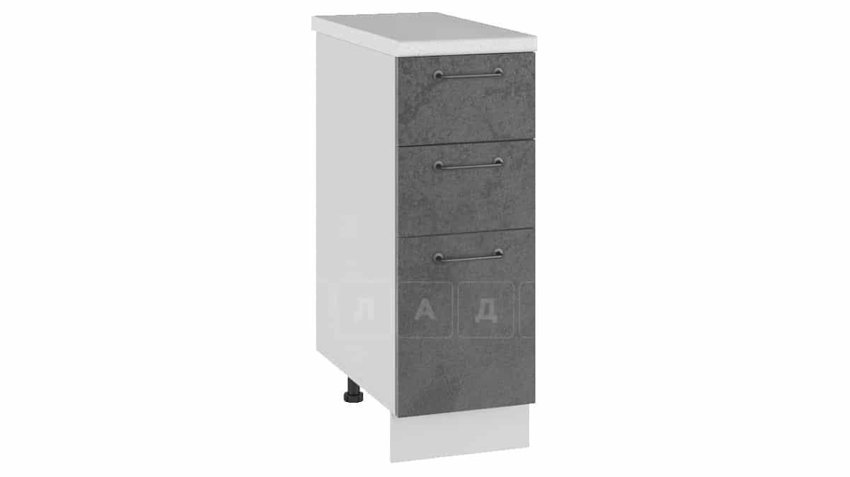 Кухонный шкаф напольный Шале ШН3Я30 с 3 ящиками фото 2 | интернет-магазин Складно