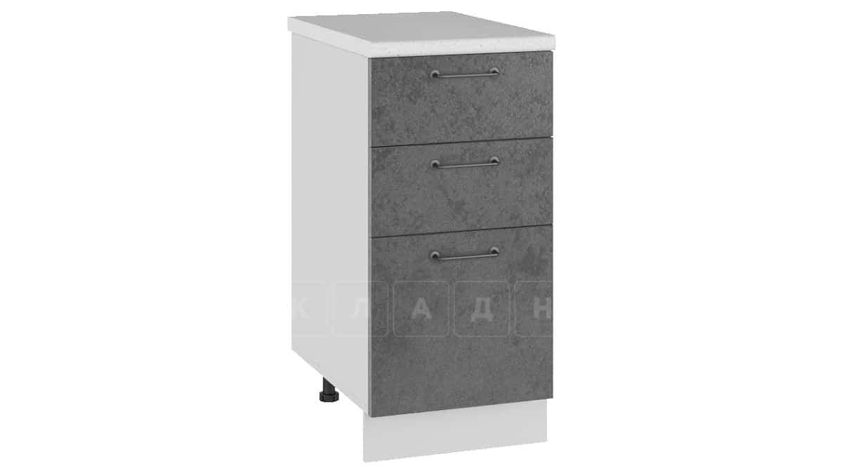 Кухонный шкаф напольный Шале ШН3Я40 с 3 ящиками фото 2 | интернет-магазин Складно