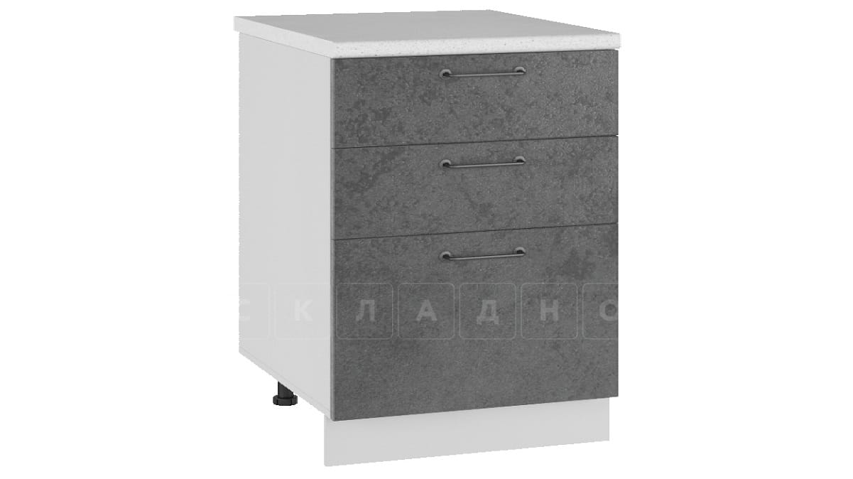 Кухонный шкаф напольный Шале ШН3Я60 с 3 ящиками фото 2 | интернет-магазин Складно