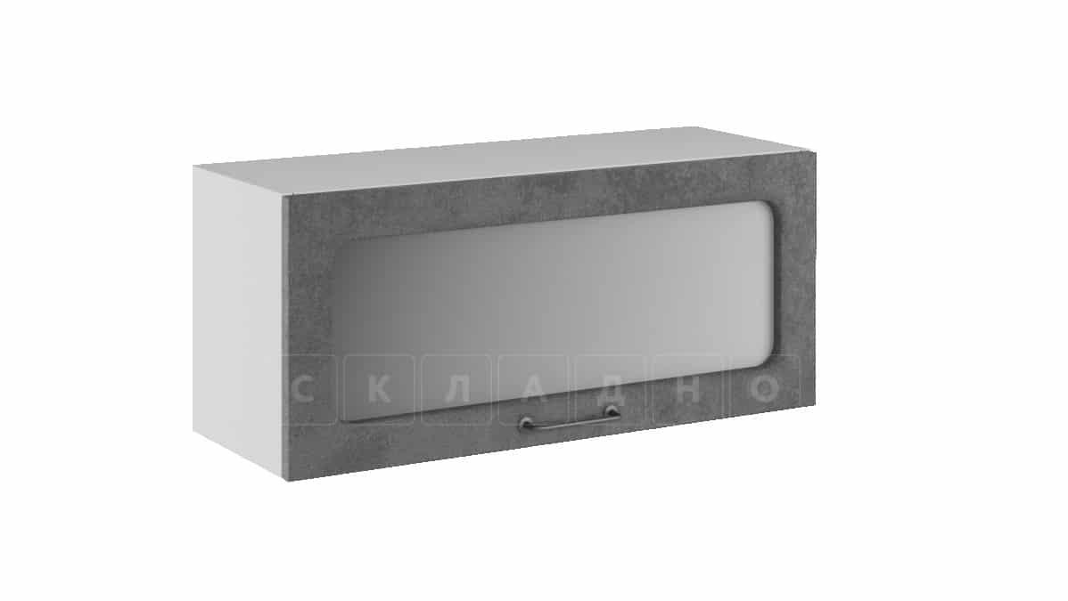 Кухонный навесной шкаф газовка со стеклом Шале ШВГС80 фото 2 | интернет-магазин Складно