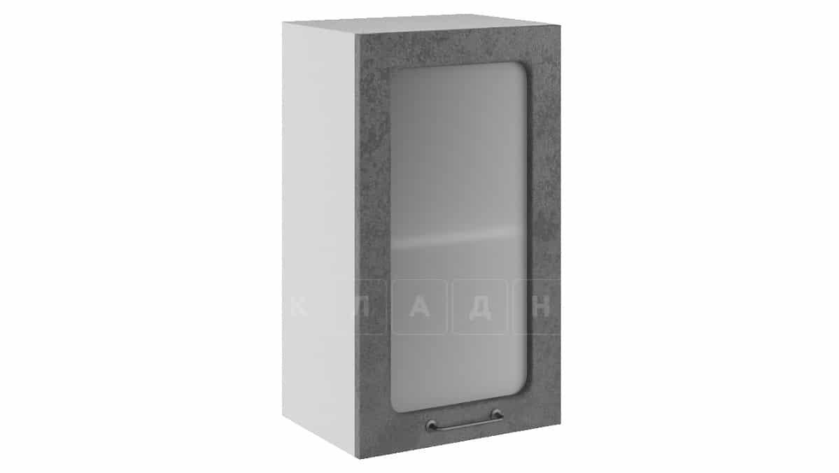 Кухонный навесной шкаф со стеклом Шале ШВС40 фото 2 | интернет-магазин Складно