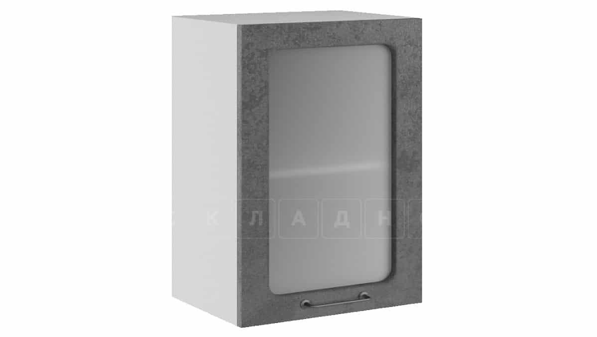 Кухонный навесной шкаф со стеклом Шале ШВС50 фото 2 | интернет-магазин Складно