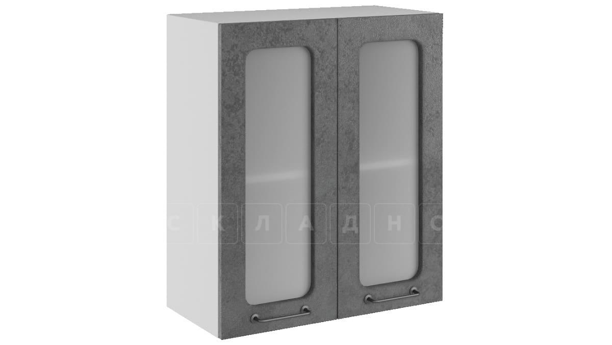 Кухонный навесной шкаф со стеклом Шале ШВС60 фото 2 | интернет-магазин Складно