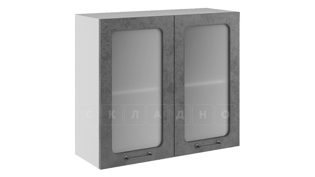 Кухонный навесной шкаф со стеклом Шале ШВС80 фото 2   интернет-магазин Складно