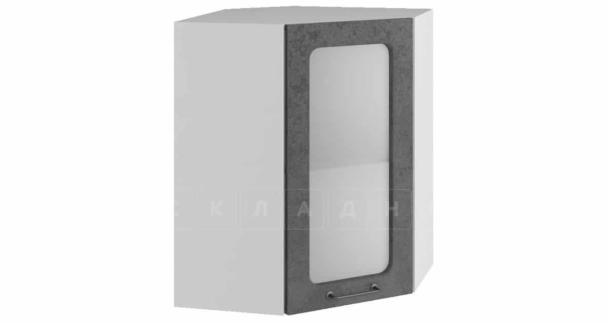 Кухонный навесной шкаф угловой со стеклом Шале ШВУС50 фото 2   интернет-магазин Складно