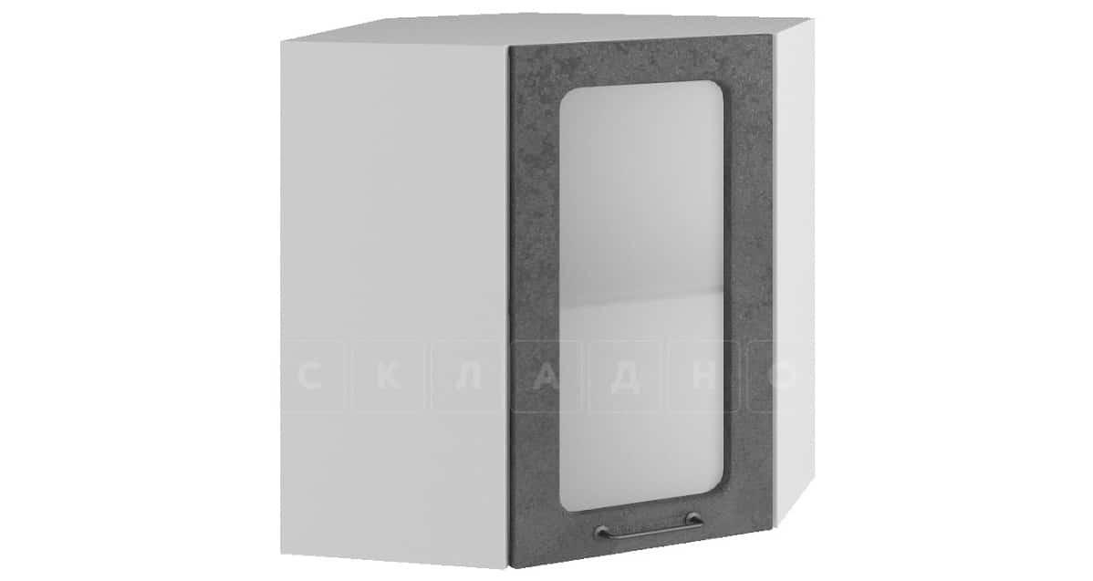 Кухонный навесной шкаф угловой со стеклом Шале ШВУС60 фото 2 | интернет-магазин Складно