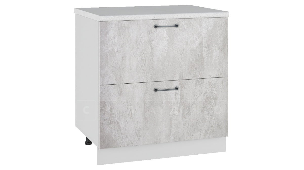Кухонный шкаф напольный Шале ШН2Я80 с 2 ящиками фото 1 | интернет-магазин Складно