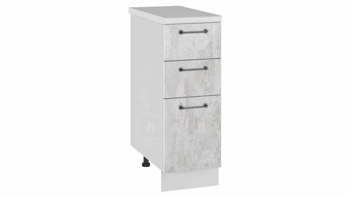 Кухонный шкаф напольный Шале ШН3Я30 с 3 ящиками фото 1 | интернет-магазин Складно