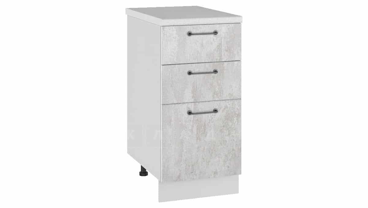 Кухонный шкаф напольный Шале ШН3Я40 с 3 ящиками фото 1 | интернет-магазин Складно
