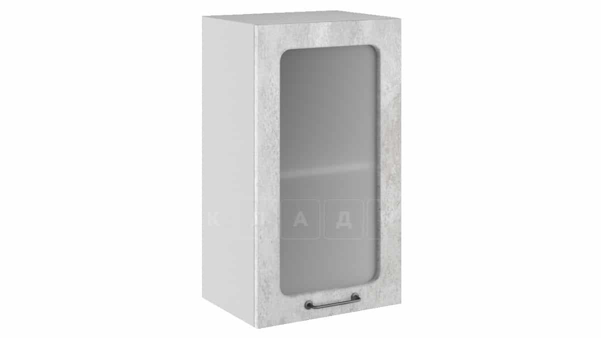 Кухонный навесной шкаф со стеклом Шале ШВС40 фото 1 | интернет-магазин Складно
