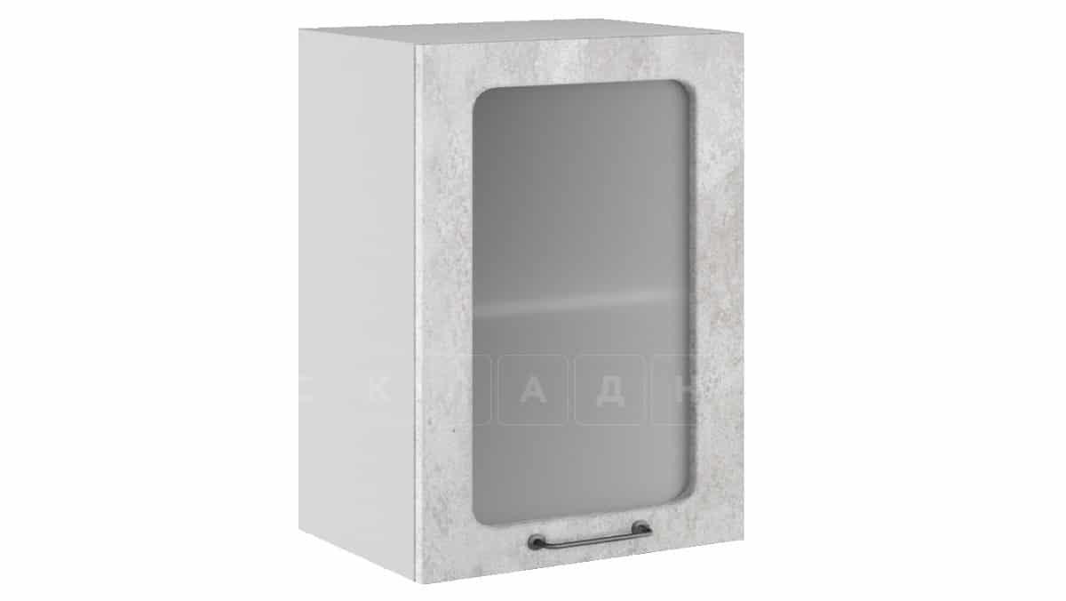 Кухонный навесной шкаф со стеклом Шале ШВС50 фото 1 | интернет-магазин Складно