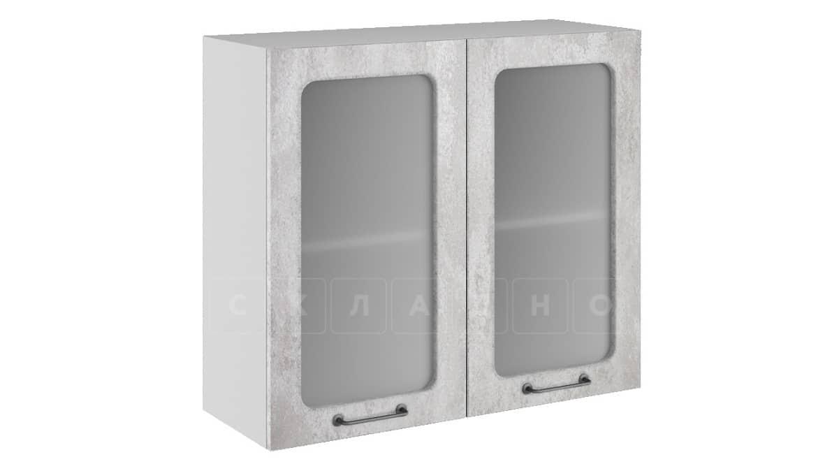 Кухонный навесной шкаф со стеклом Шале ШВС80 фото 1   интернет-магазин Складно