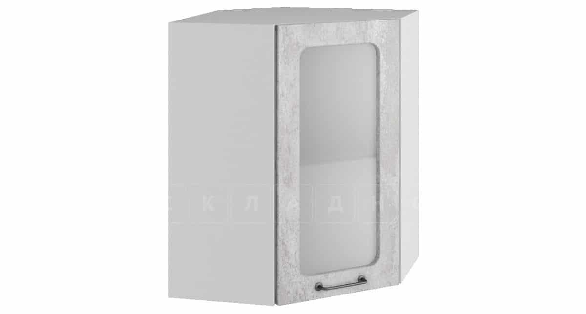 Кухонный навесной шкаф угловой со стеклом Шале ШВУС50 фото 1   интернет-магазин Складно