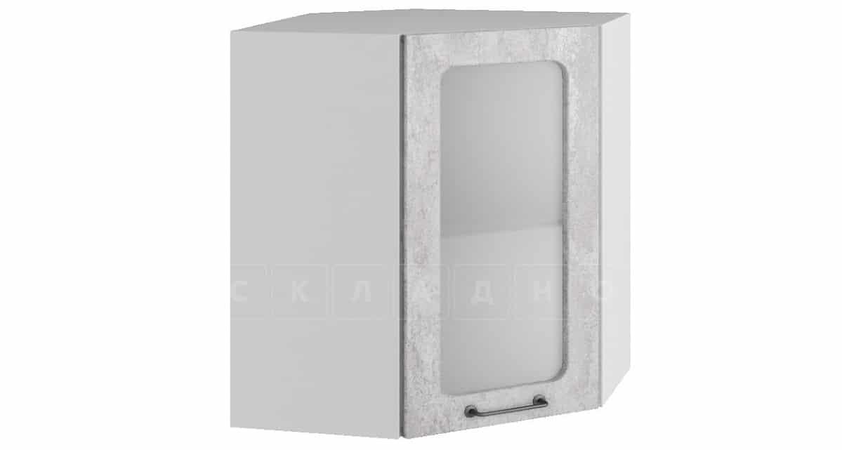 Кухонный навесной шкаф угловой со стеклом Шале ШВУС60 фото 1 | интернет-магазин Складно