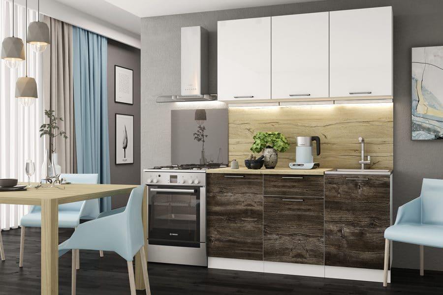 Кухонный гарнитур Даллас 1,5 м фото | интернет-магазин Складно