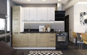 Кухонный гарнитур с пеналом Даллас 2,2 м фото | интернет-магазин Складно