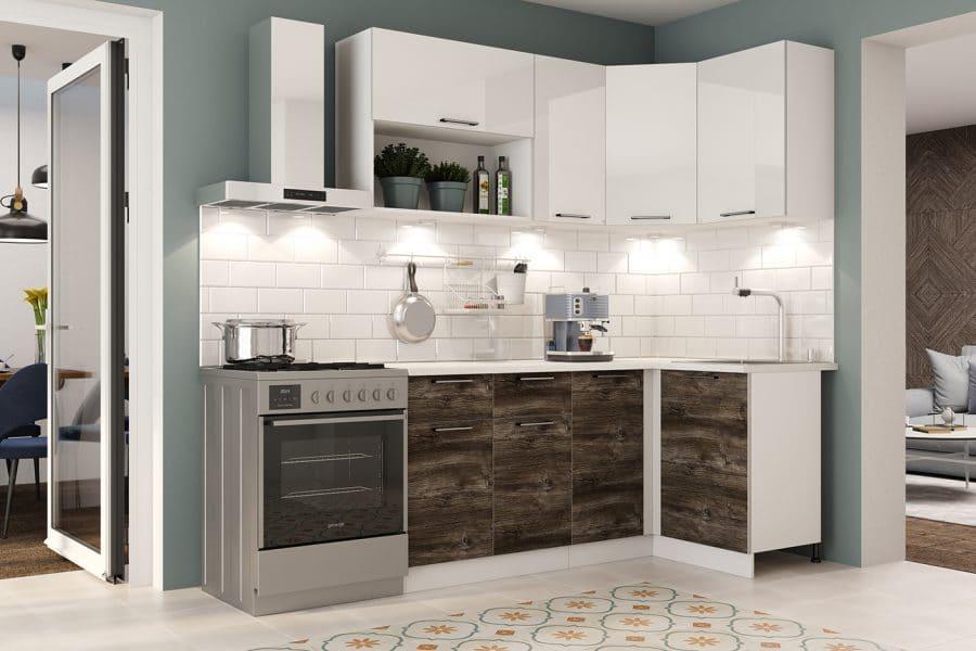 Кухня угловая Даллас 1,8х1,1 м фото | интернет-магазин Складно