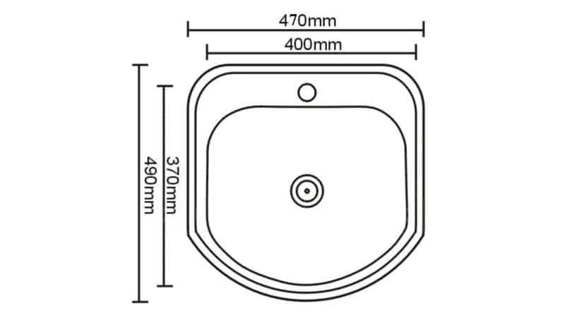 Кухонная мойка врезная металлическая 49х47 см фото 2 | интернет-магазин Складно