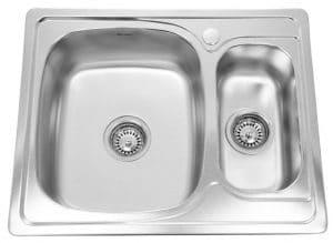 Кухонная мойка врезная металлическая 63х50 см 1,5 чаши фото | интернет-магазин Складно