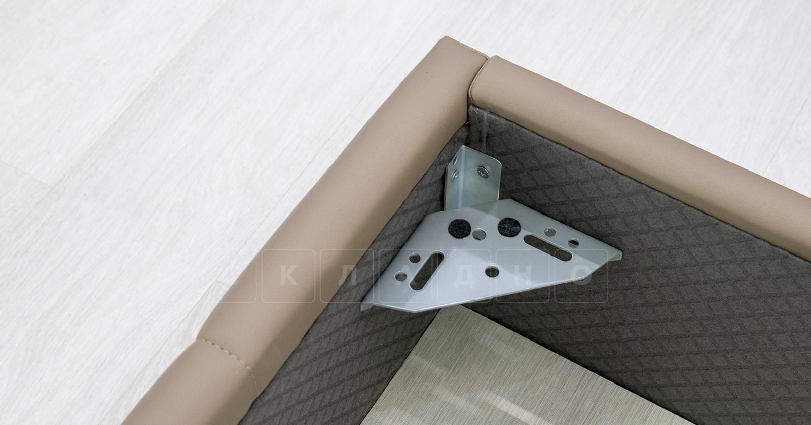 Мягкая кровать Хлоя 160 см капучино с подъемным механизмом фото 9 | интернет-магазин Складно