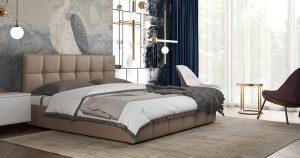 Мягкая кровать Хлоя 160 см капучино с подъемным механизмом 15950 рублей, фото 4 | интернет-магазин Складно