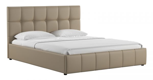 Мягкая кровать Хлоя 160 см капучино с подъемным механизмом фото | интернет-магазин Складно