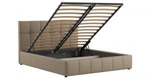 Мягкая кровать Хлоя 160 см капучино с подъемным механизмом 15950 рублей, фото 2 | интернет-магазин Складно