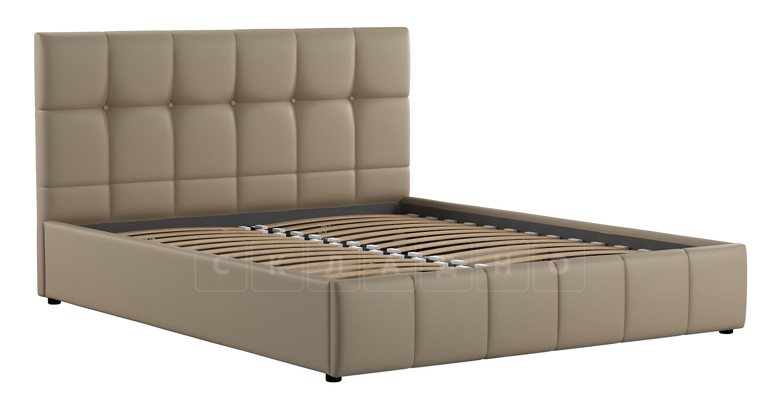 Мягкая кровать Хлоя 160 см капучино с подъемным механизмом фото 3 | интернет-магазин Складно