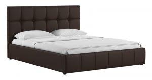 Мягкая кровать Хлоя 160 см шоколад с подъемным механизмом-14296 фото | интернет-магазин Складно