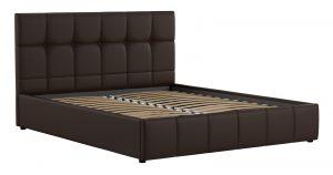 Мягкая кровать Хлоя 160 см шоколад с подъемным механизмом 15950 рублей, фото 2 | интернет-магазин Складно