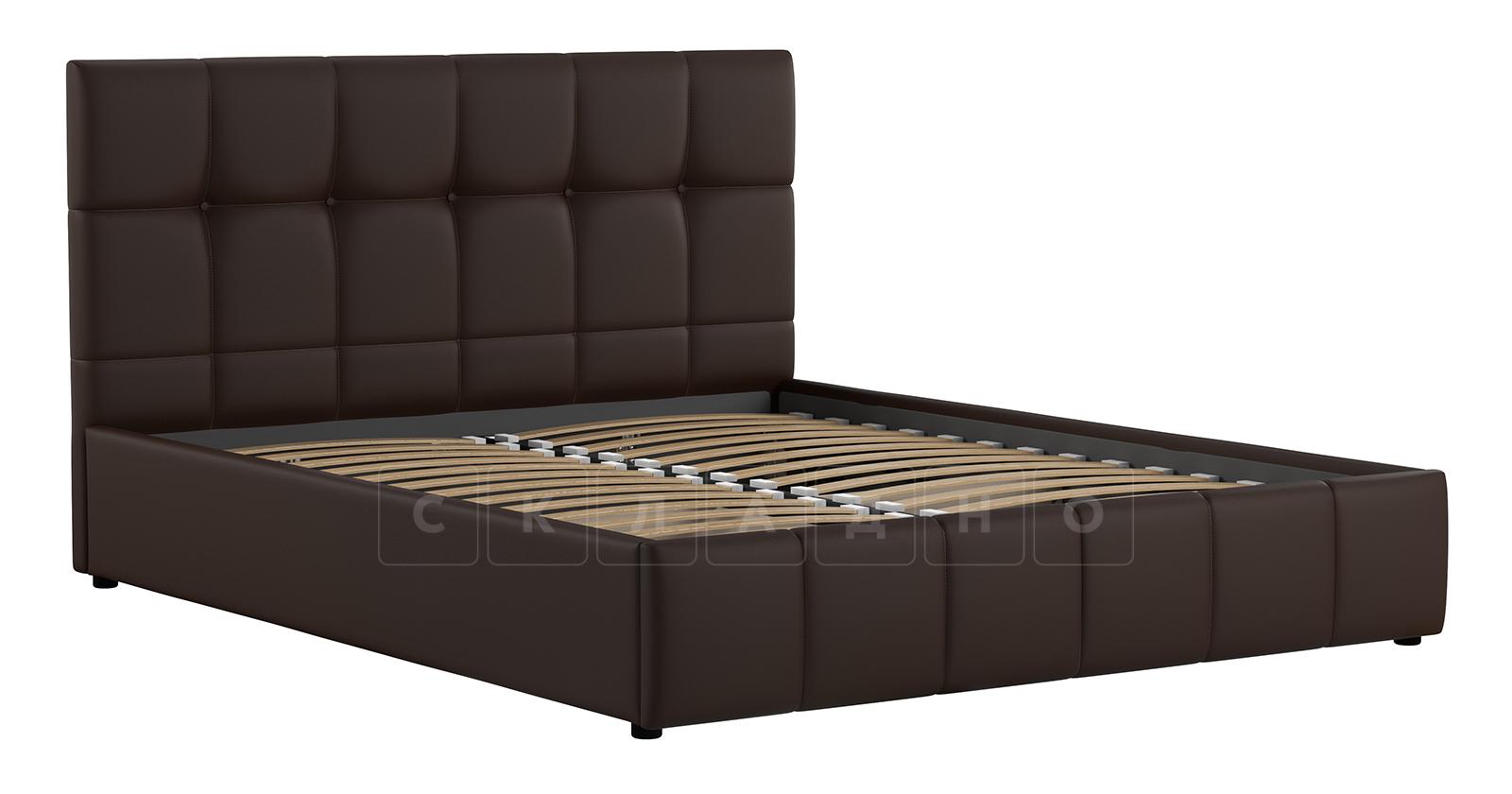 Мягкая кровать Хлоя 160 см шоколад с подъемным механизмом фото 2 | интернет-магазин Складно