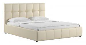 Мягкая кровать Хлоя 160 см сливочный с подъемным механизмом-14271 фото | интернет-магазин Складно