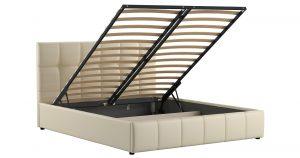 Мягкая кровать Хлоя 160 см сливочный с подъемным механизмом 23950 рублей, фото 2   интернет-магазин Складно