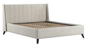 Мягкая кровать Мелисса 160 см велюр светло-бежевый 16790 рублей, фото 2 | интернет-магазин Складно