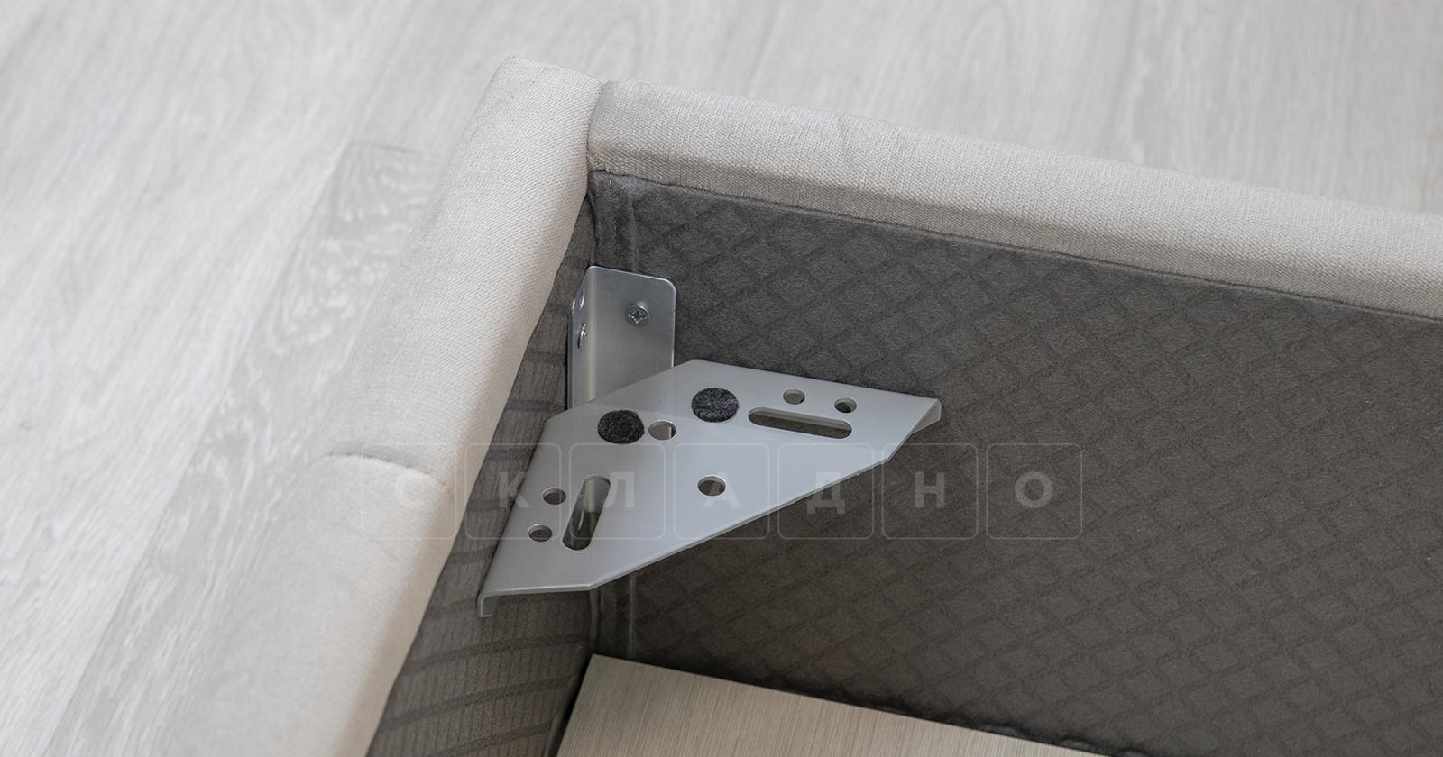 Мягкая кровать Милана 160 см светлый кварцевый серый с подъемным механизмом фото 11 | интернет-магазин Складно