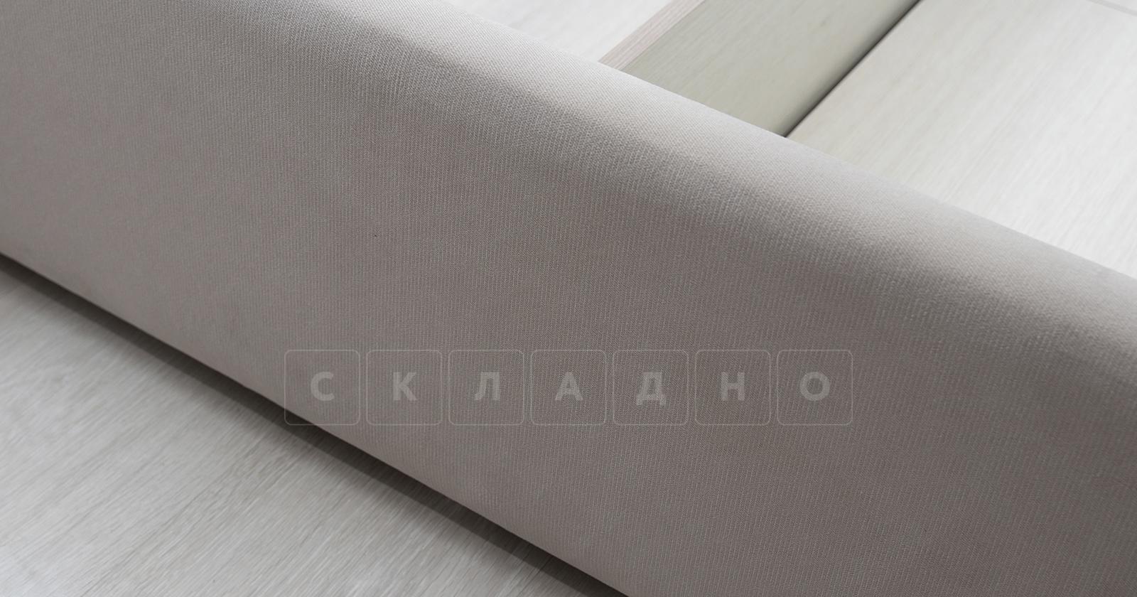 Мягкая кровать Милана 160 см светлый кварцевый серый с подъемным механизмом фото 6 | интернет-магазин Складно