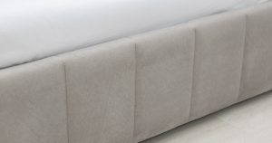Мягкая кровать Милана 160 см светлый кварцевый серый с подъемным механизмом 24910 рублей, фото 7 | интернет-магазин Складно