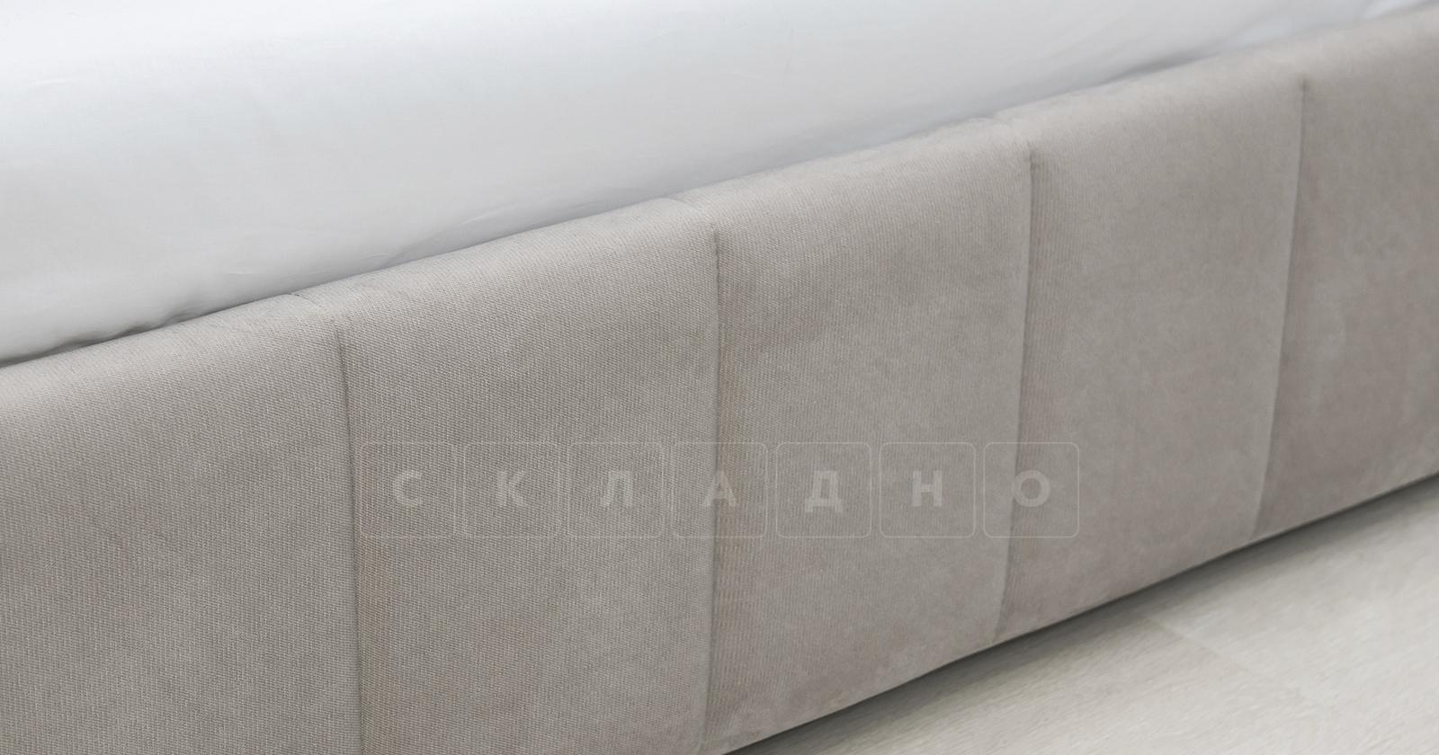 Мягкая кровать Милана 160 см светлый кварцевый серый с подъемным механизмом фото 7 | интернет-магазин Складно